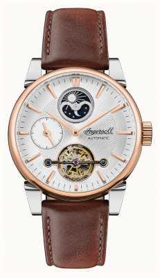 Ingersoll Hommes | la balançoire | automatique | bracelet en cuir marron I07503