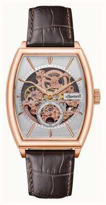 Ingersoll Hommes | le producteur | automatique | bracelet en cuir marron I09702