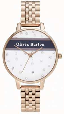 Olivia Burton Femmes | demi | université | or rose pvd OB16VS06