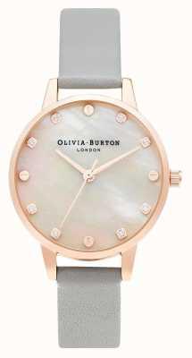 Olivia Burton | cadran de vadrouille midi avec détail de vis | or gris et rose | OB16SE12