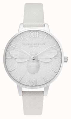 Olivia Burton | demi cadran scintillant | montre chatoyante abeille perle | OB16FB20