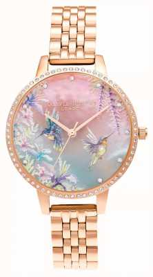 Olivia Burton Bracelet en or rose scintillant colibri OB16PP60
