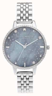 Olivia Burton Bracelet argenté à demi cadran ciel nocturne OB16GD65