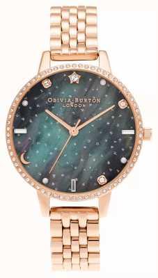 Olivia Burton Bracelet Aurores Boréales Demi Cadran Or Rose OB16GD66