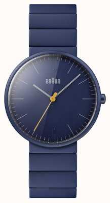 Braun Hommes   classique   bracelet en céramique bleue   cadran bleu BN0171NVNVG