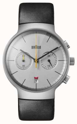 Braun Hommes   classique   chronographe   Cuir noir BN0265SLBKG