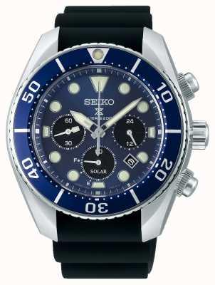 Seiko Prospex gents solaire | bracelet en silicone noir | cadran bleu SSC759J1