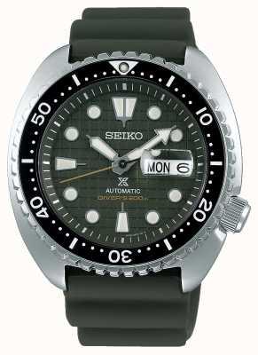 Seiko Prospex hommes mécanique | bracelet en caoutchouc kaki | cadran kaki SRPE05K1