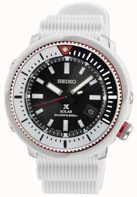 Seiko Montre solaire Prospex messieurs | bracelet en silicone blanc SNE545P1