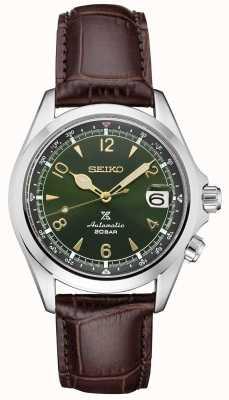 Seiko Alpiniste mécanique Prospex messieurs | bracelet en cuir marron SPB121J1