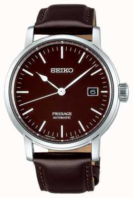 Seiko | présage messieurs mécaniques | cuir marron | bracelet marron SPB115J1
