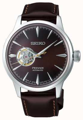 Seiko Presage messieurs mécaniques | bracelet en cuir de veau marron | SSA407J1