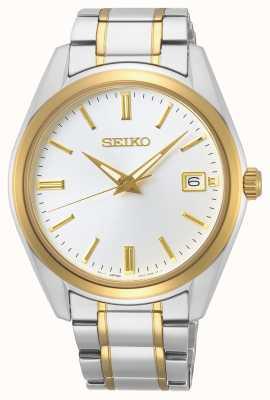 Seiko | quartz conceptuel pour hommes | bracelet bicolore | cadran argenté SUR312P1