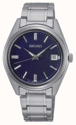 Seiko Gents conceptuels en acier inoxydable quartz, cadran bleu SUR317P1