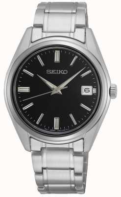 Seiko Quartz homme conceptuel, acier inoxydable, cadran noir SUR319P1