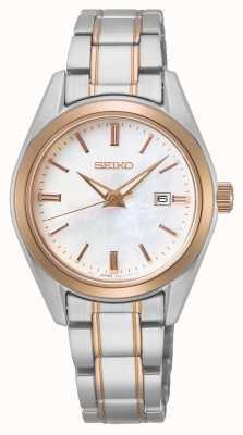 Seiko Quartz dames conceptuel   bracelet en acier bicolore SUR634P1