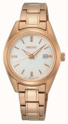Seiko Quartz dames conceptuel | bracelet en acier or rose SUR630P1