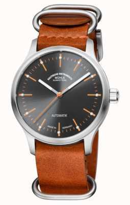 Muhle Glashutte Les opposés s'attirent: le nouveau panova grau | bracelet en cuir marron M1-40-75-LB