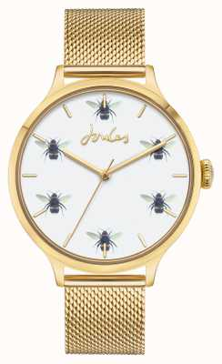 Joules Femmes | maille pvd or | cadran abeille blanche JSL030GM