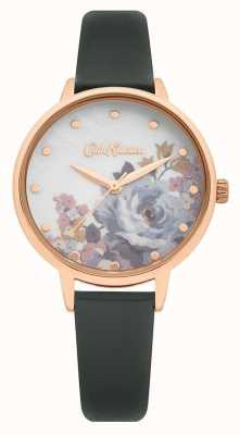 Cath Kidston | bracelet en cuir gris pour femme | cadran imprimé nacre CKL087E