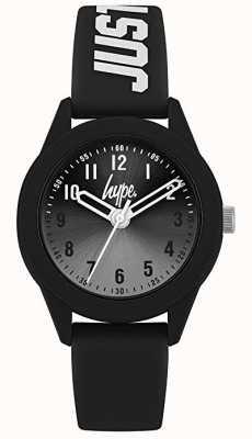 Hype | bracelet en silicone noir | cadran gris | HYK003B