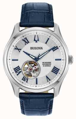 Bulova Hommes | wilton | automatique | bracelet en cuir bleu 96A206