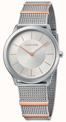 Calvin Klein | minimal | bracelet en maille d'acier | cadran argenté | 35 mm K3M521Y6