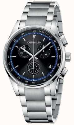 Calvin Klein | achèvement | bracelet en acier inoxydable | cadran noir | KAM27141