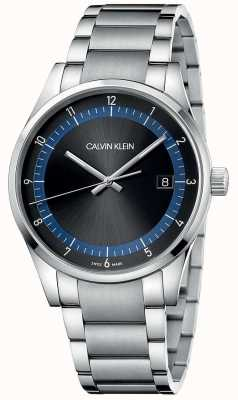 Calvin Klein | achèvement | bracelet en acier inoxydable | cadran noir / bleu | KAM21141