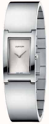 Calvin Klein | polonais | bracelet en acier inoxydable | cadran rectangle argent K9C2N116