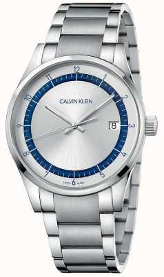 Calvin Klein | achèvement | bracelet en argent en acier inoxydable | cadran argenté KAM21146