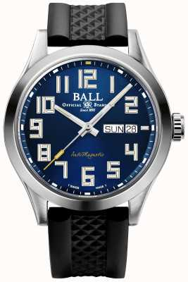 Ball Watch Company Ingénieur iii starlight   bracelet en caoutchouc noir   cadran bleu   NM2182C-P12-BE1