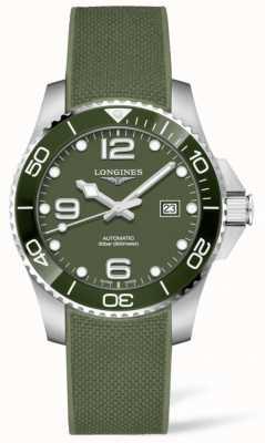 Longines Hydroconquest 43mm | cadran vert | bracelet en caoutchouc L37824069