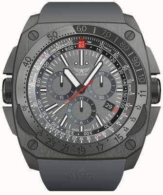 Aviator Mig-29 | chrono | bracelet en caoutchouc gris M.2.30.7.221.6