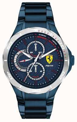 Scuderia Ferrari | pista pour hommes | bracelet en acier plaqué ion bleu | cadran bleu 0830759