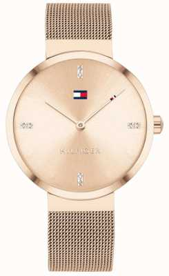 Tommy Hilfiger Liberté | bracelet en maille or rose | cadran en or rose 1782218