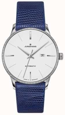 Junghans Meister Mesdames cuir automatique bleu 027/4046.00