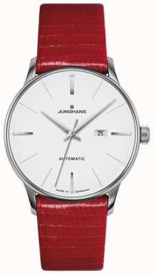 Junghans Cuir rouge automatique Meister pour femme 027/4044.00