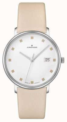 Junghans Bracelet en cuir avec fenêtre Date Damen 047/4860.00