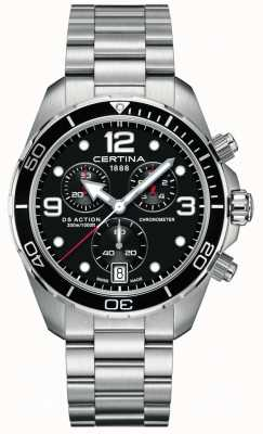 Certina Ds action chrono | chronomètre | bracelet en acier inoxydable C0324341105700