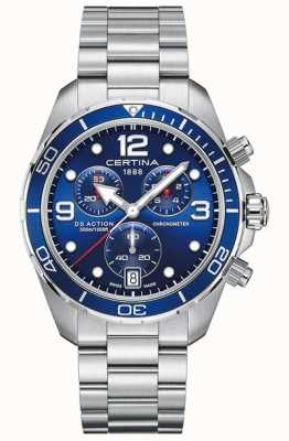 Certina Ds action chrono   chronomètre   bracelet en acier inoxydable C0324341104700