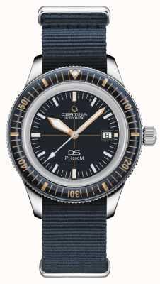Certina Ds ph200m   automatique   lunette en céramique   bracelet nato bleu C0364071804000