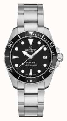 Certina Ds action diver | 38mm | powermatic 80 | acier inoxydable C0328071105100