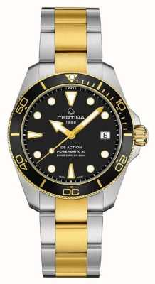 Certina Ds action diver | 38mm | powermatic 80 | deux tons C0328072205100