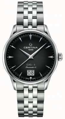 Certina Ds-1 grande date | powermatic 80 | bracelet en acier inoxydable C0294261105100