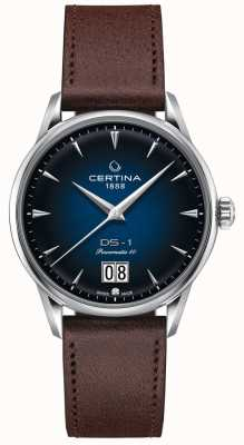 Certina Ds-1 grande date | powermatic 80 | bracelet en cuir marron C0294261604100
