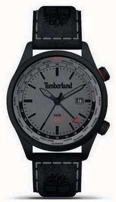 Timberland Hommes | malden | gmt | bracelet en cuir noir | cadran gris 15942JSB/13