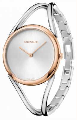 Calvin Klein Lady | bracelet en acier inoxydable | cadran argenté | KBA23626