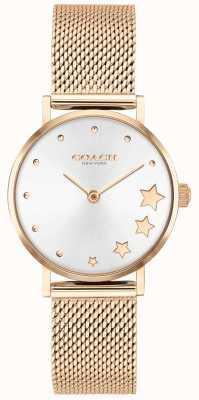Coach | poiré des femmes | bracelet en maille en or rose | cadran argenté | 14503520