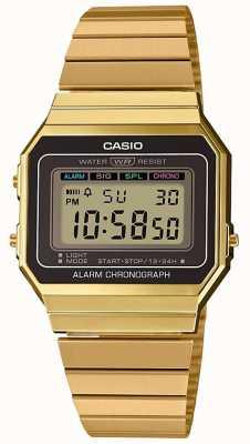 Casio | collection | bracelet en acier plaqué or | cadran numérique A700WEG-9AEF